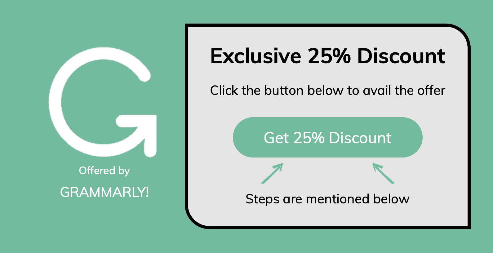 Grammarly 25% discount