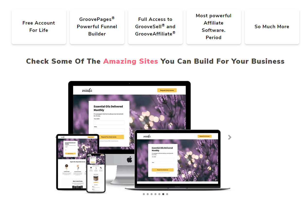GrooveFunnels Free web building tools