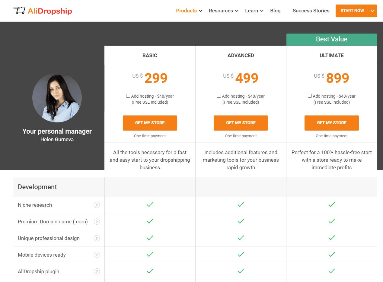 alidropship price