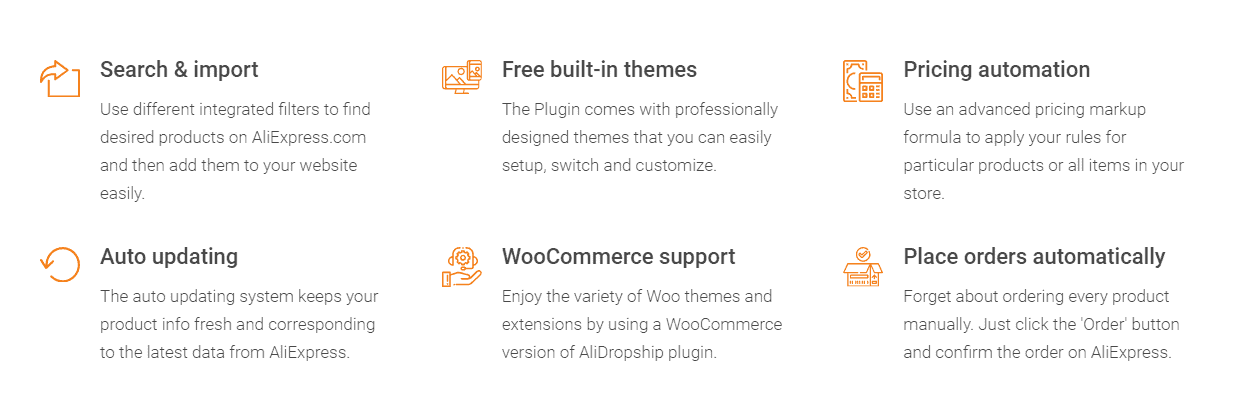 features of alidropship